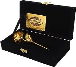 Msa Jewels 24K Gold Rose 25 Cm With Black Velvet Box