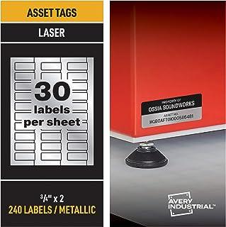 ملصقات Avery PermaTrack المعدنية لطابعات الليزر، 3/4 بوصة × 2 بوصة، 240 ملصق (61524)