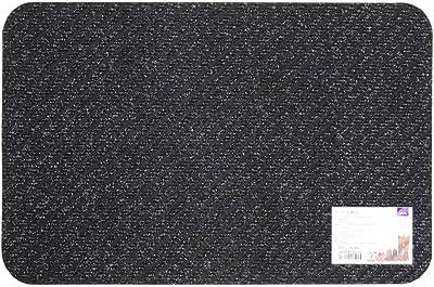 JVL Conquest Ribbed Gel Backed Entrance Door Mat, Charcoal, 40 x 60 cm