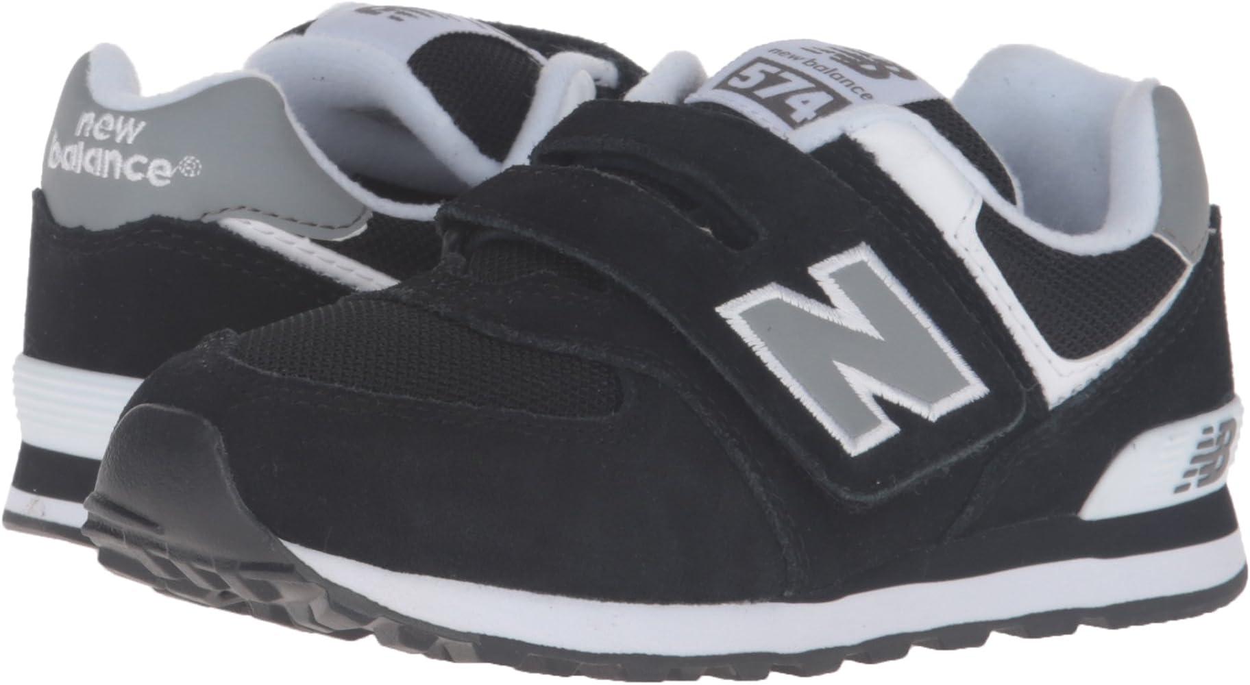 New Balance Kid's 574 V1 Core Sneaker, Black, 1 M ... - Amazon.com
