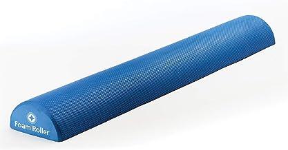 """STOTT PILATES Soft Density Deluxe Half Foam Roller, Blue, 36""""/92cm"""