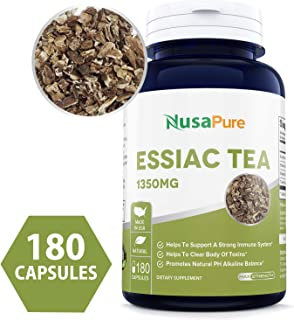 Essiac Tea 1350mg 180caps (Non-GMO & Gluten Free) Supports a Healthy Immune System