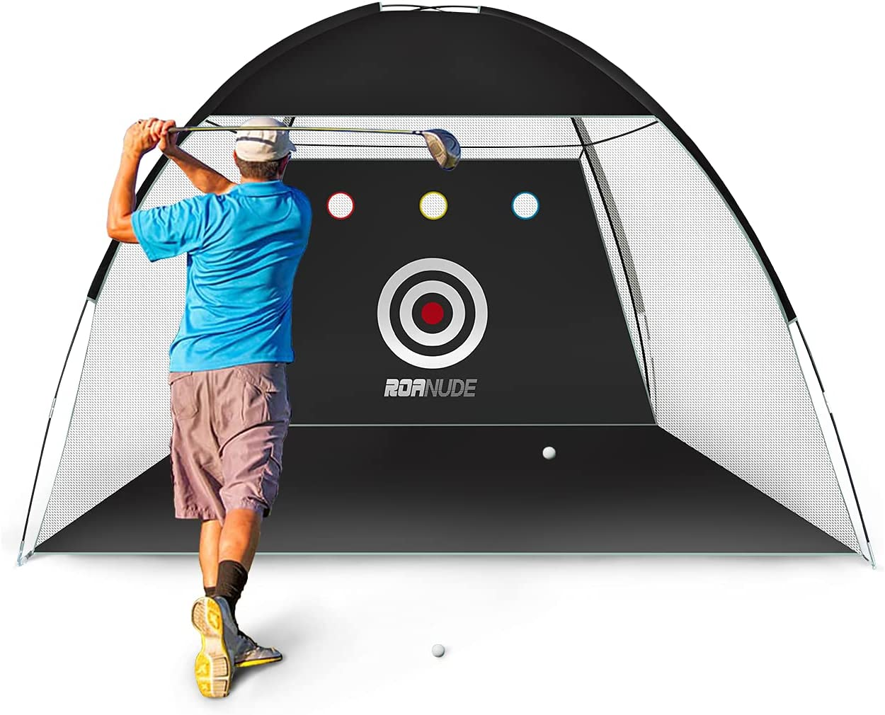 Roanude Golf Practice Nets for Backyard Driving, Golf Target Hitting Net with Carry Bag for Indoor or Outdoor Use : Sports & Outdoors