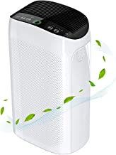 Air Purifier for Home Large Room up to 495 ft² , H11 Smart True HEPA Air Purifie for Allergies and Pets, Remove 99.97% Hairs, Dust, Pollen, Smoke and Odor Eliminator, 100% Ozone free