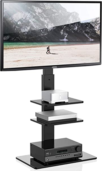 FITUEYES Universal TV Stand With Swivel Mount Height Adjustable For 32 65 Inch TT307001MB Two Kinds Of Packaging Random Delivery