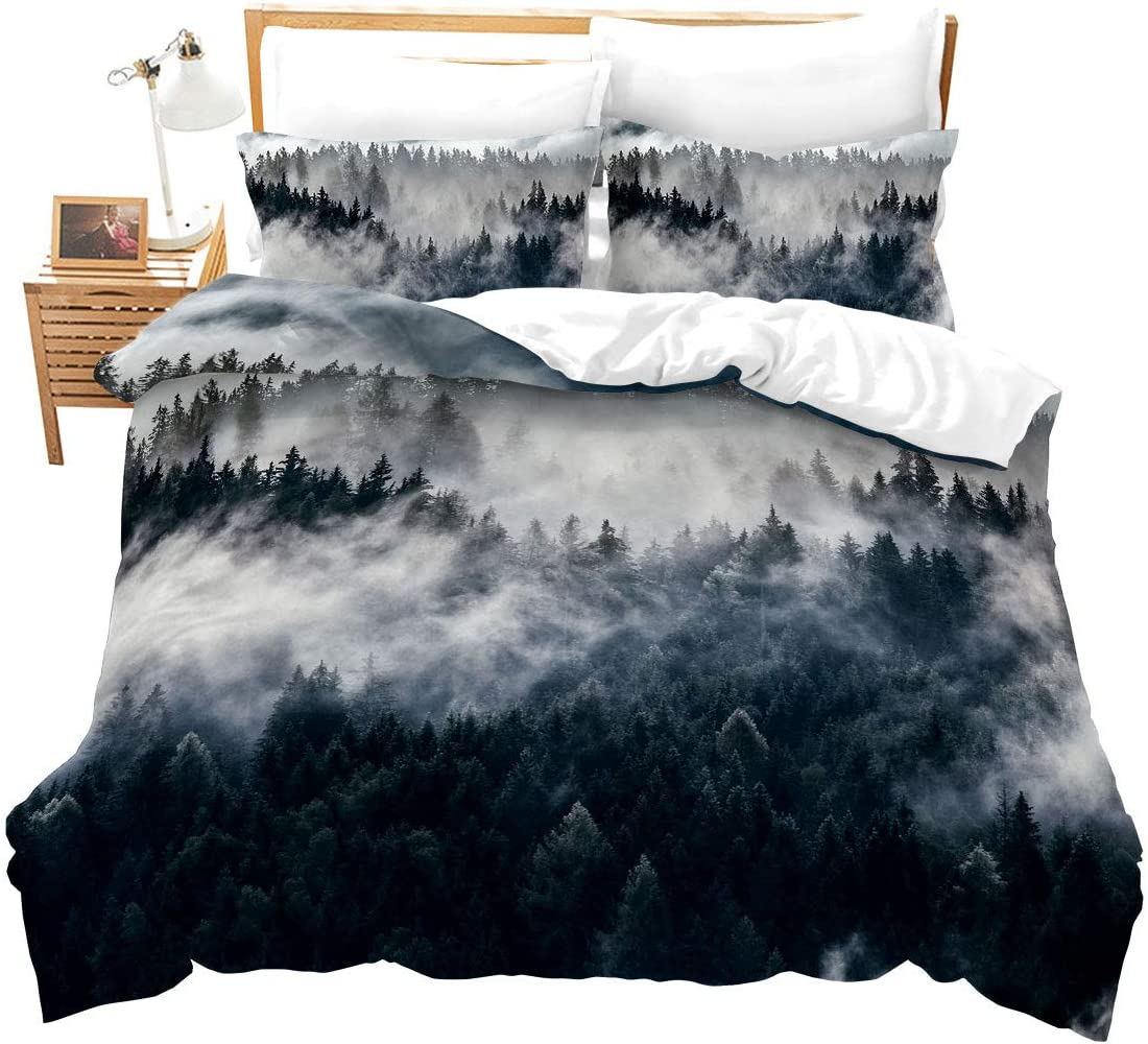 Smoky Mountain Bedding Pineforest Duvet Ranking TOP20 Na Cover Trees Twin Sales results No. 1 Grey