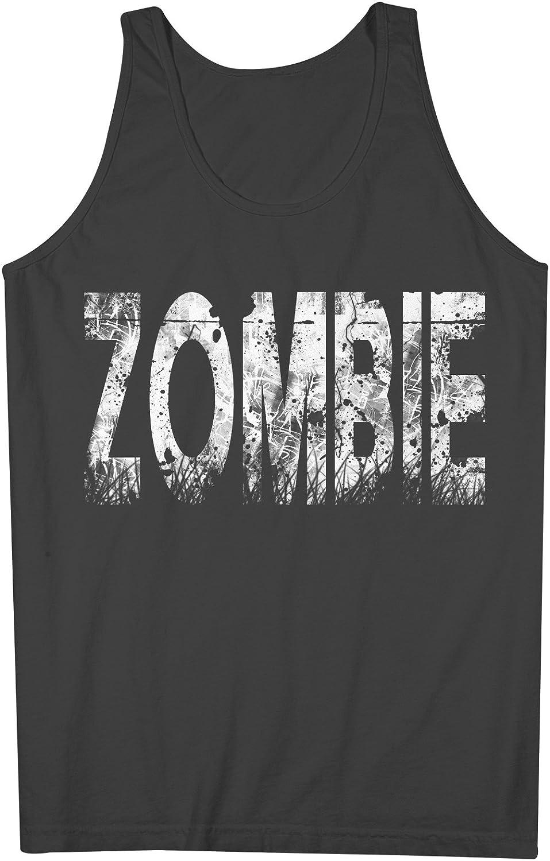 Zombie Distorted テキスト Artwork 男性用 Tank Top Sleeveless Shirt