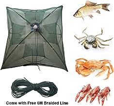 Portable Foldable 4/6/8/10/12/16 Holes Automatic Fishing Net Landing Net Trap Cast Dip Cage Fish Shrimp Trap Fish Net Minnow Crayfish Crab Baits Cast Mesh Trap