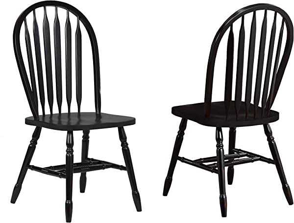 Sunset Trading Arrowback Dining Chair In Antique Black Set Of 2 38 Antique Black