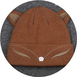 Pursuit-of-self Women Spring Wool Cotton Cuff Beanie Knit Watch Cap,Khaki Kid,