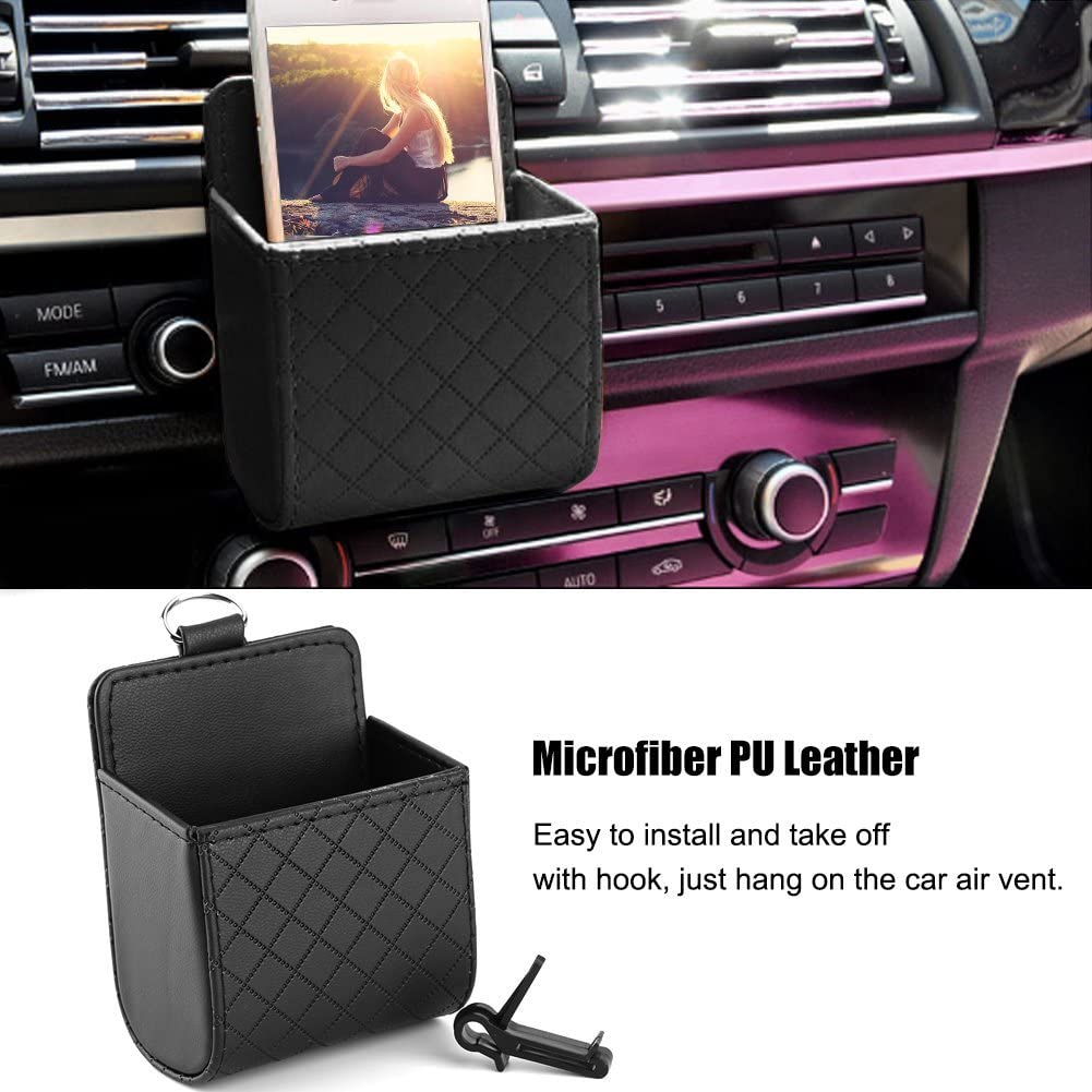 Black Yosoo Car Auto Seat Back Interior Air Vent Cell Phone Holder Pouch Bag Box Tidy Storage Coin Bag Case Organizer with Hook