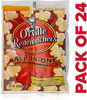 Orville Redenbacher's All in One Sunflower Oil Popcorn Kit, 10.6 Ounce Portion Packs (Pack of 24)