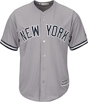 Majestic New York Yankees Cool Base MLB Camiseta Road Gris