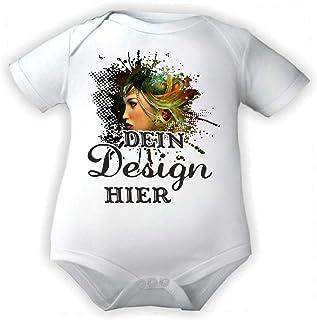 KLEINER FRATZ Body Baby mit eigenem Wunsch Motiv, Foto, Text/Kurzarmbody/Mädchen Motiv Jungen