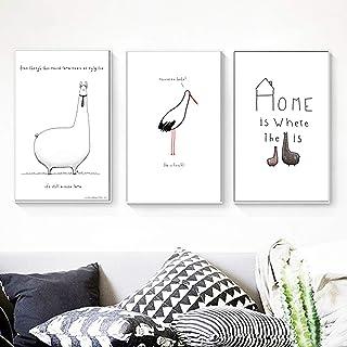 Moderne Affiche Stick Figure Art Posters Nordique Minimalisme Tableaux Déco Dessin Animaux Aquarelle Impressions Sur Toile...