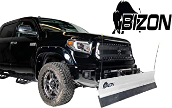 BIZON Aluminum Snow Plow (fits) 2015-2018 Chevy Silverado GMC Sierra 2500, 3500 ONLY Includes Blade, Push Bar, Blade Markers, and 2