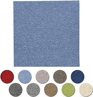 アイリスプラザ タイルカーペット 10畳 江戸間 72枚セット カーペット ジョイントマット ライトブルー 50×50 TKP-PP50