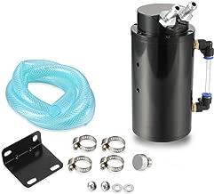 Dromedary Black Cylindrical Universal Aluminum Engine Oil Catch Can Reservoir Tank 750ml