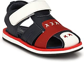 Tuskey Boy's Genuine Leather Closed Toe Summer Floater Sandals for Kids