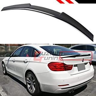 Cuztom Tuning Fits for 2014-2019 BMW F36 4 Series Gran Coupe 4 Door Carbon Fiber Highkick M4 Style Trunk Lid Spoiler Wing