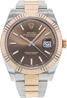 Datejust Ii 41mm Chocolate Dial Rose Gold And Steel Men's Watch 126331