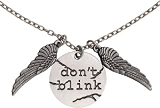Animewild Doctor Who Dont Blink Disc Charm Pendant Necklace