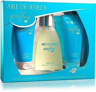 Aire de Sevilla Set de Belleza Edición Azul Fresh - Crema Hidratante Corporal Eau de Toilette Gel Exfoliante