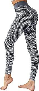 VNVNE Women's High Waisted Yoga Pants,Scrunch Butt Lifting Leggings Workout Gym Running Capri Pants