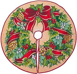 Iusun Christmas Tree Skirt Ornament 39 inch Diameter Christmas Tree Bottom Decoration