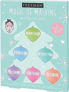Freeman Beauty Magic of Masking Face Mask Holiday Gift Set, Skin Care Peel-Off, Charcoal, Mud and Clay Masks, Set of 6
