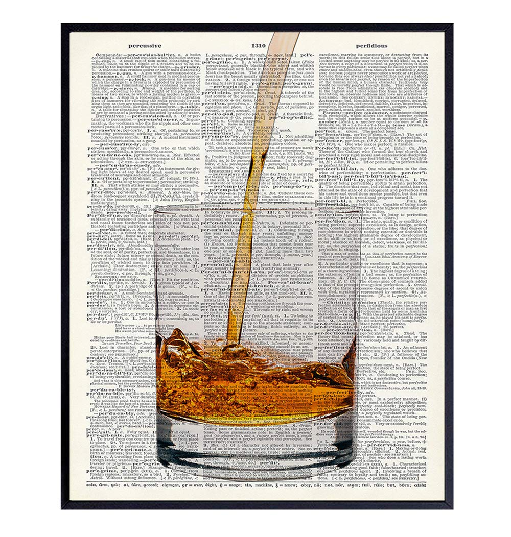 Direct stock discount Scotch Whiskey Dictionary Nippon regular agency Art Print - Vintage Upcycled Wall