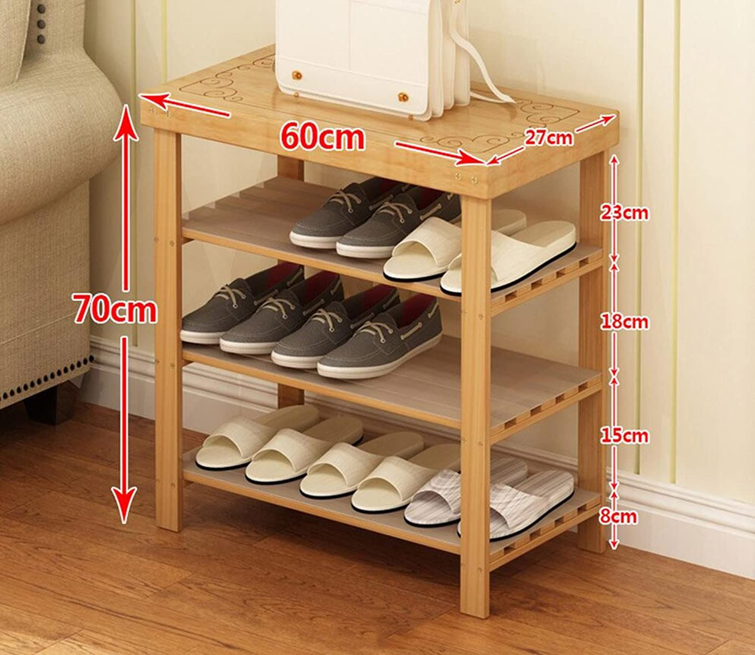 Shoes Bench Organizing Rack Shoes Racks Bamboo Products Diy