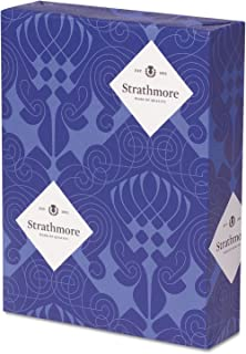 STRATHMORE 100 Percent Pure Cotton Business Stationery, 24 lb, 8-1/2 x 11 Inches, Natural White, 500/Ream (STT318153)