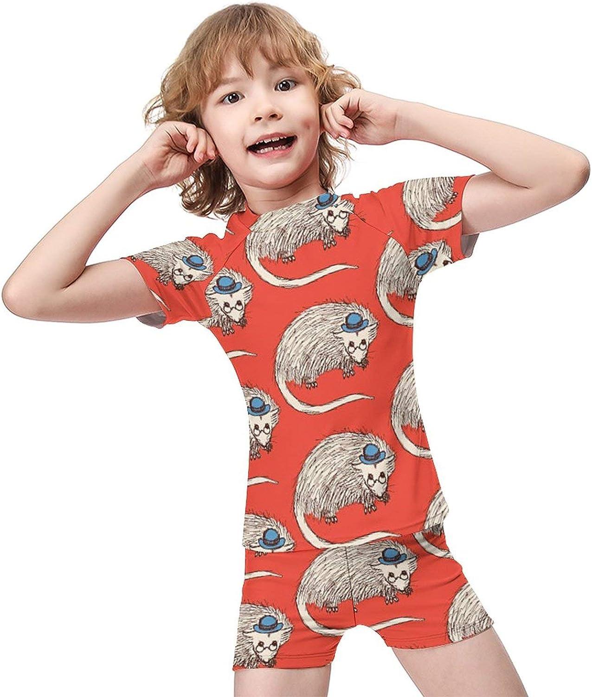 Yiaoflying Kids Boys 2 Piece Swimwear Set - OpossumRash Guard Swimsuit Trunks