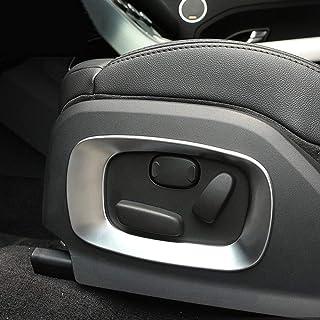 2x Autoverkleidung, ABS, matt silber, für den Autositz, Seitliche Dekoration, Rahmen