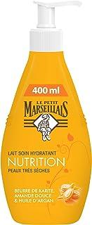 Le Petit Marseillais Lait Corps Hydratant, Nutrition, au Beurre de Karité, Amande Douce et Huile d'Argan, Pour Peaux Très ...