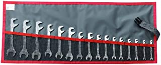 Proto Facom FM-34.JL16T Short Satin Metric Angle Open-End Wrench,Set,16PC