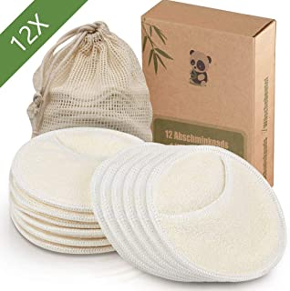 12 PCS Makeup Remover Pads Rounds Reusable, Washable Eco-friendly Natural Bamboo Cotton Rounds for all skin types Makeup P...