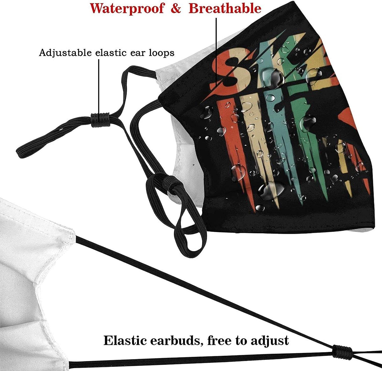 Skateboard Face Mask Skateboarder Sport Mask Breathable Adjustable Washable Balaclavas with 2 Filters