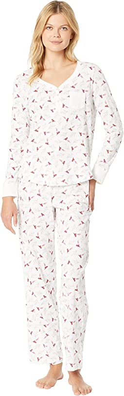 Soft Jersey Long Pajama Set
