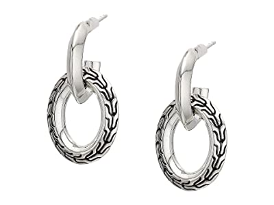 John Hardy Classic Chain Knife Edge Drop Earrings (Sterling Silver) Earring