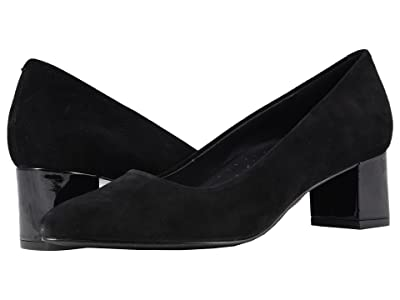 Trotters Kari (Black Suede Leather) Women