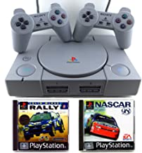 Sony Playstation 1, PS1, Fat, gris, 2manettes + Colin Mcrae Rally + NASCAR 98