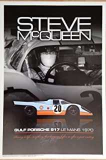 Autosports Marketing Associates Steve McQueen in The Gulf Porsche 917 #20 - Le Mans Poster
