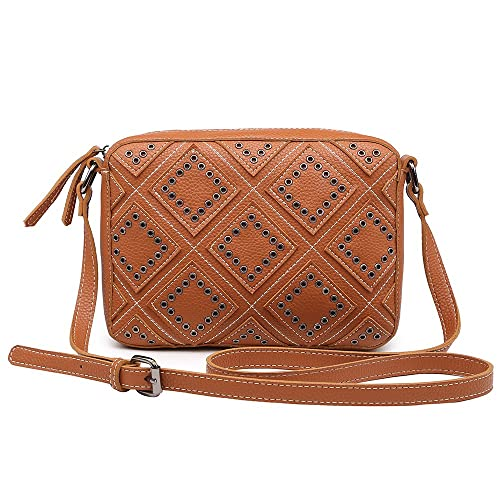 5a2f4110a589 Small Crossbody Bags for Women Purse Faux Leather Handbags for Girls Teens  Stylish Studed Shoulder Bags