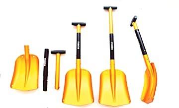KAMINUO Portable Colorful Telescopic Aluminum Car Adjustable Extended Edition Snow Shovel