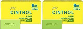 Cinthol Lime Bath Soap – 99.9% Germ Protection, 100g (Pack of 6) & Cinthol Lime Bath Soap – 99.9% Germ Protection, 100g (P...