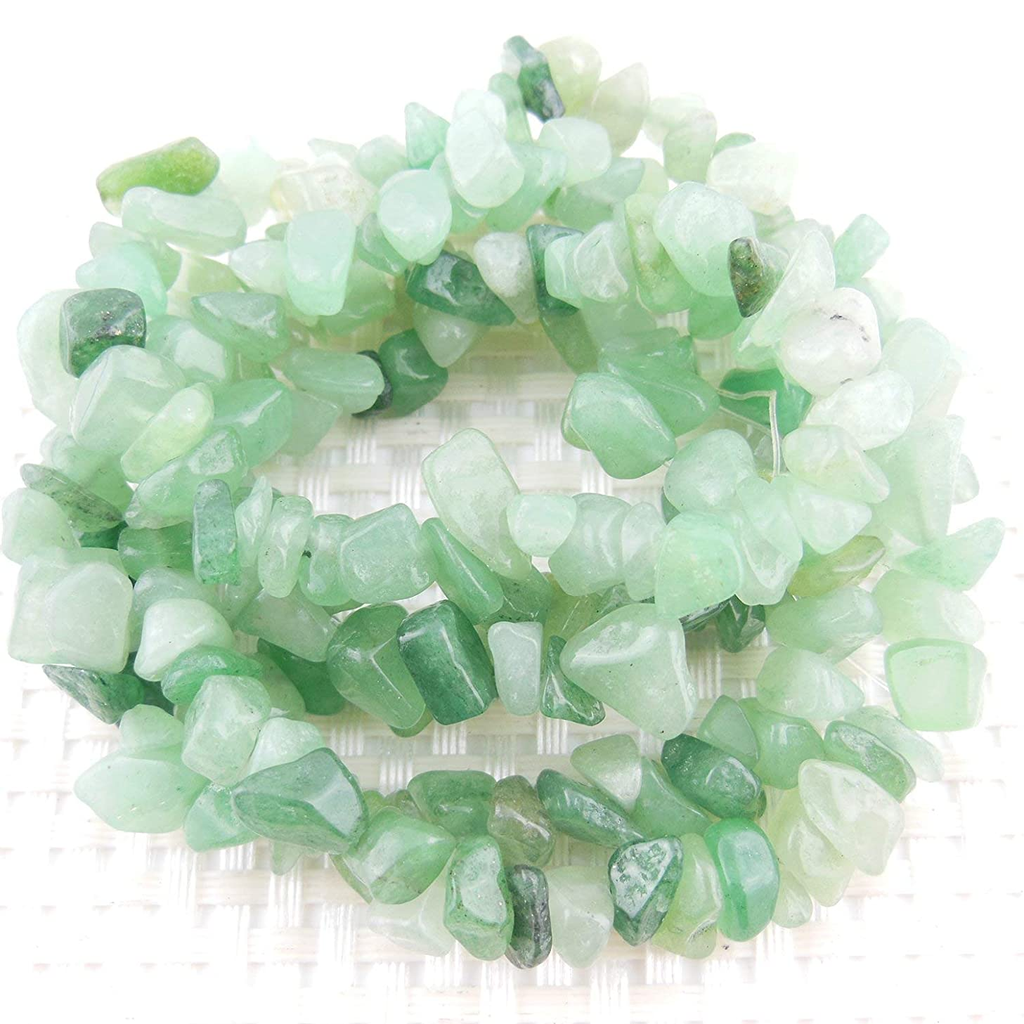 COIRIS 2 Strands 33'' 5-8MM Nice Green Adventurine Loose Chips Gemstone Beads for Jewelry Making DY Design (St-1017)