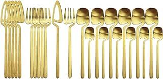 24pcs Dîner coloré Nouveau Cutlery Set Couteau Couteau Vaisselle Vaisselle Set 18/10 En acier inoxydable Cuisine Silverwar...