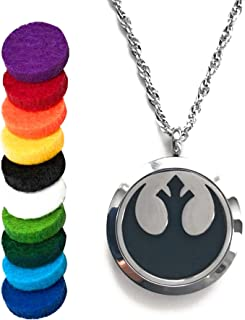 Star Wars Rebellion Air Freshener Diffusers Locket Pendant Aromatherapy Essential Oils (Necklace Diffuser)